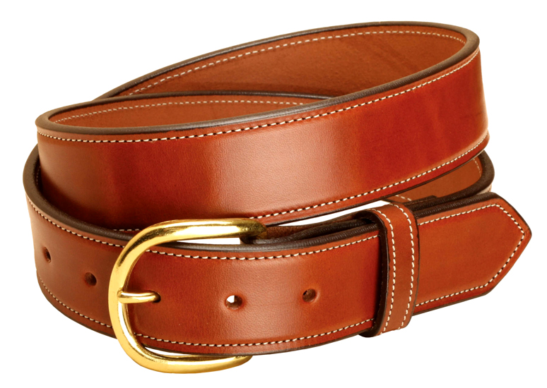 Stitched Heavy Weight English Bridle Leather Belt - Equestrian