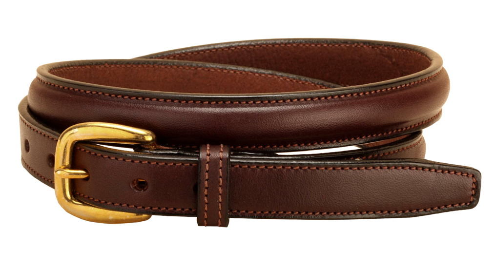 Raised Leather Belt - Equestrian