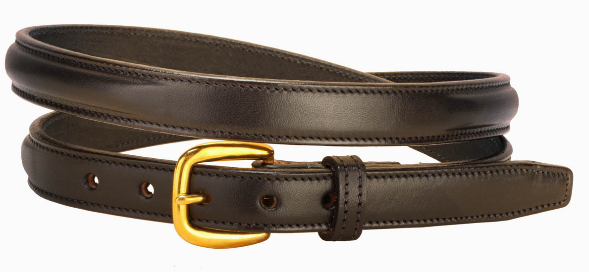 Raised Nameplate Leather Belt - Equestrian