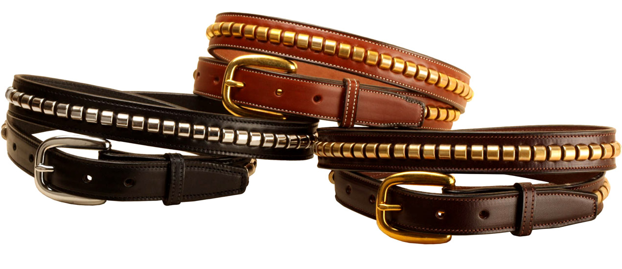 "Clincher Leather Belt - 1"" Wide - Equestrian"