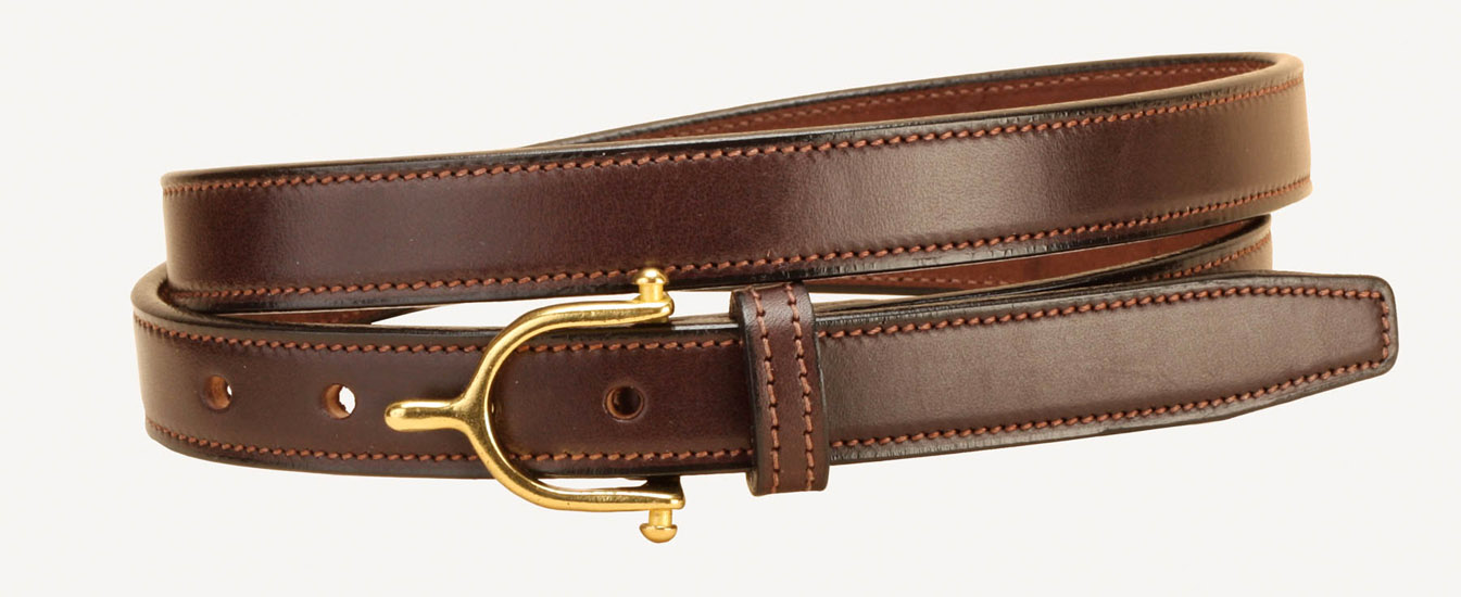 English Spur Buckle Leather Belt - Equestrian