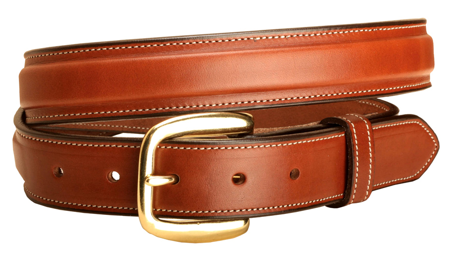"Raised Leather Belt - 1 1/4"" Wide - Equestrian"
