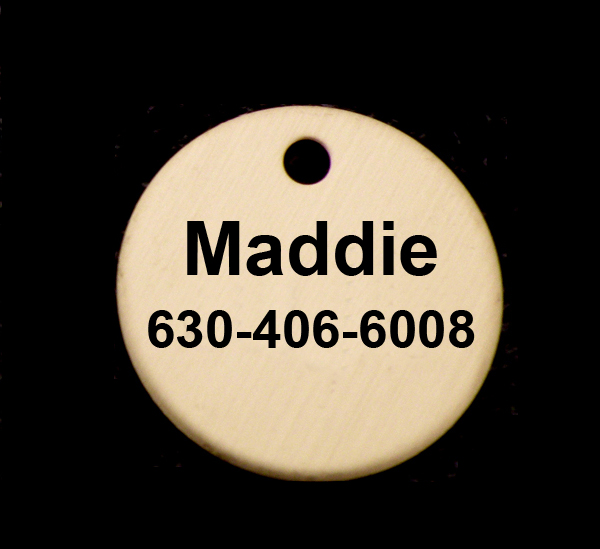 Round Brass Bridle Engraved Disc / ID Tag