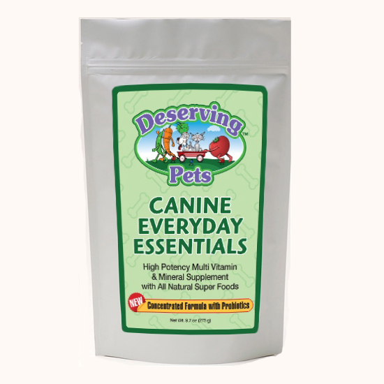 Deserving Pets Everyday Canine Essentials vitamins for dogs.