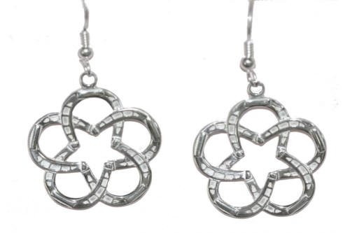Lone star horseshoe sterling silver equestrian jewelry earrings. Made in the USA