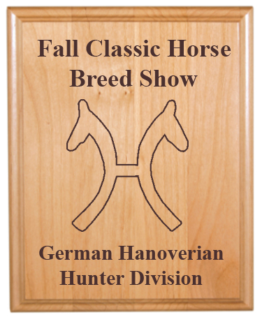 Custom Engraved Alder Plaque - Horse Breed Logos