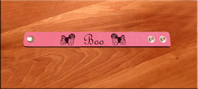 Personalized bracelet with your choice of toy dog design.