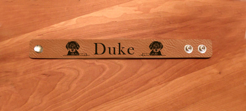 Personalized bracelet with your choice of Doberman design.