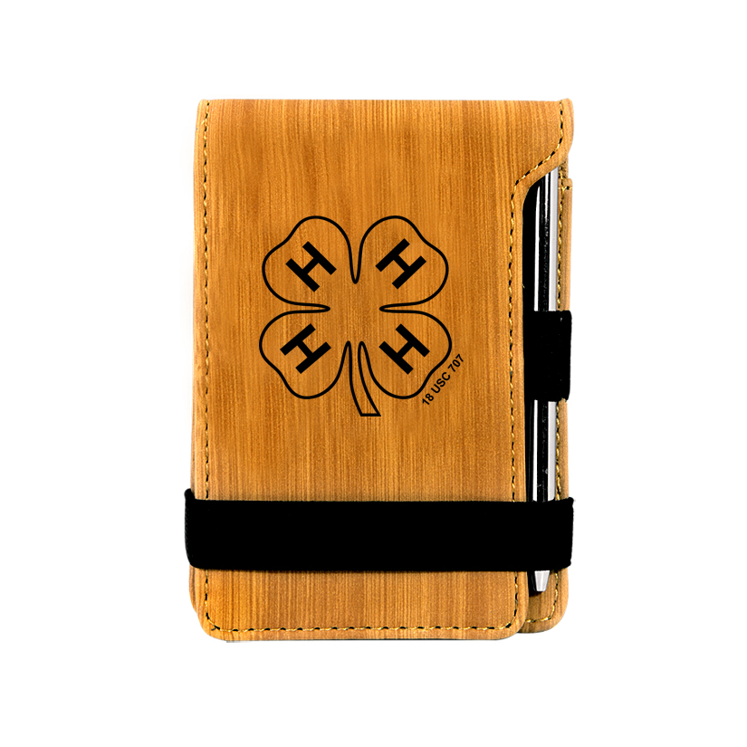 Leatherette Mini Notepad & Pen - 4-H Logo