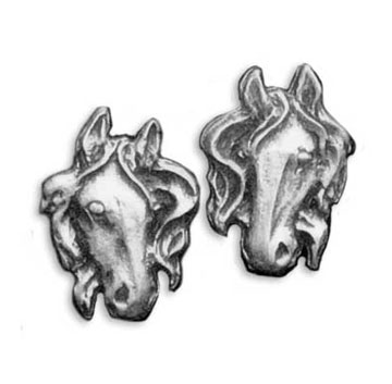 Pewter Horse Post Earrings - Equestrian Jewelry