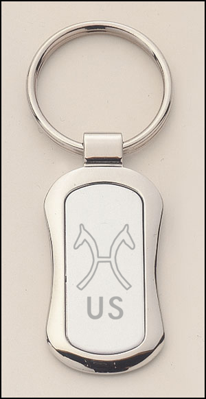 Silver Engraved Key Ring - Breed Logo