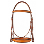 "Plain Raised  Edgewood 1"" Bridle with Padded Noseband and Browband"