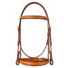 "Plain Raised Edgewood 3/4"" Bridle with a Padded Noseband and Browband"