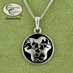 Celtic Triple Horse Necklace - Sterling Silver - Equestrian Jewelry