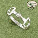 Small English D Ring Equestrian Bit Ring - Horse Jewelry