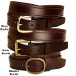 Creased English Bridle Leather Belt - Equestrian