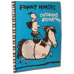 Funny Horses Coloring Book