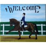 Dressage Perfection Slate Sign