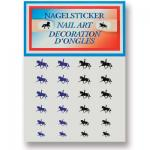 Metallic glitter dressage nail art stickers pack.