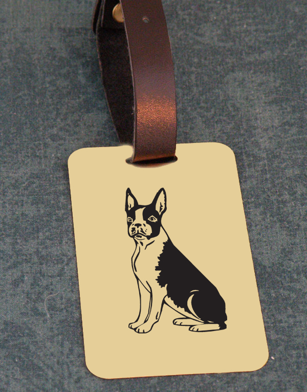 Non-Sporting Dog Design Brass Custom Engraved Luggage Tag